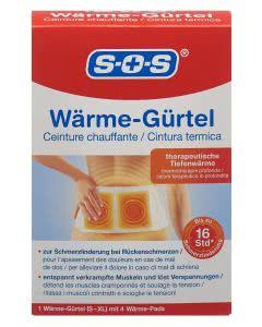 SOS Wärme Gürtel + 4 Pads