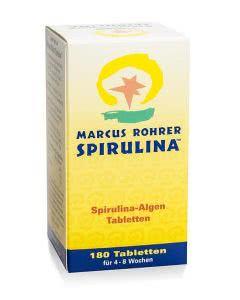 Spirulina Algen by Marcus Rohrer - 180 Tabl.