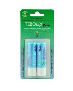 TEBO-Lip Balsam Stift mit Teebaumoel - 2 Stk. DUO-Pack