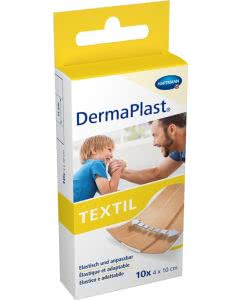 DermaPlast Textil Schnellverband 4x10cm - 10 Stk.