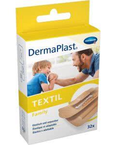 DermaPlast Textil Family assortiert - 32 Strips in 3 Grössen