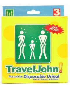 Travel-John Urinal - Das WC für unterwegs! 3 Stk.