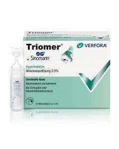 Triomer by Sinomarin - hypertonischer Nasenspülung - 18 x 5ml Monodosen
