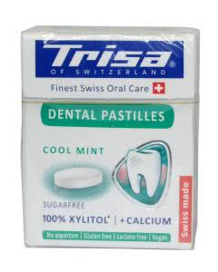 Trisa Dental Pastilles Cool mint Xylit Lutschtabletten - 25g