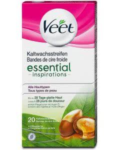Veet Easy-Gelwax Kaltwachsstreifen Körper - Essential Inspirations - 20 Stk.
