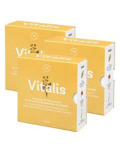 Viterba Vitalis - Belastbarkeit und Vitalität - Pflanzenshots - Monatspack - 3x10 Stk.