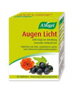A. Vogel - Augen Licht - schwarze Johannisbeere und Lutein - 30 Tabl.
