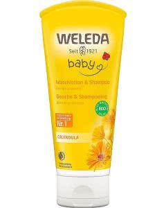 Weleda Baby Calendula Waschlotion und Shampoo - 200ml