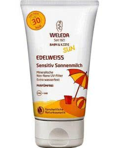Weleda  Edelweiss Sensitiv Sonnencreme LSF30 - 150ml