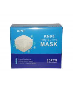 Grippe AtemSchutzmasken XPH Typ KN95 zertifiziert hoher Tragekomfort - 20 Stk.