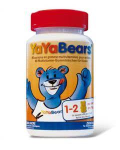 YaYa - Bears - Multivitamin Gummibärchen Zuckerfrei - 60 Stk.