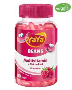 YAYABeans Multivitamin Bohnen Himbeeren ohne Gelatine - 90 Stk.