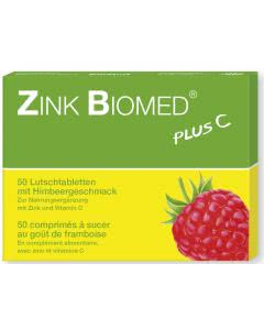 Zink Biomed plus - Himbeer - 50 Lutschtabletten