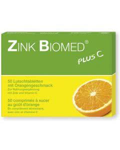 Zink Biomed plus - Orange - 50 Lutschtabletten