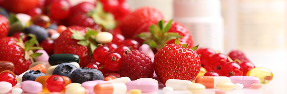 Ernährung: Beerenobst, Vitamintabletten