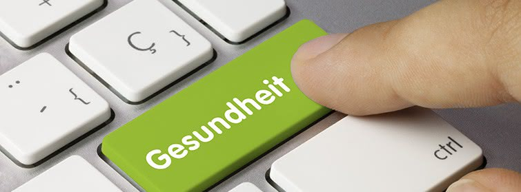 Tastatur mit grüner Taste Gesundheit